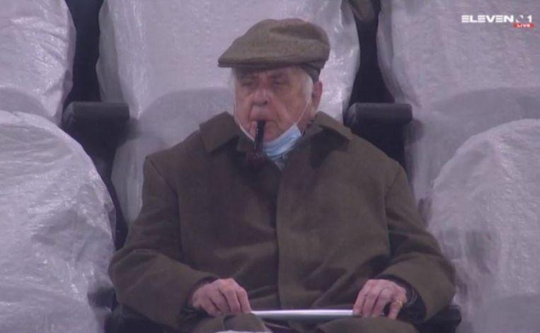 Étienne Davignon tijdens de wedstrijd van afgelopen zondag. Beeld Screenshot Eleven Sports