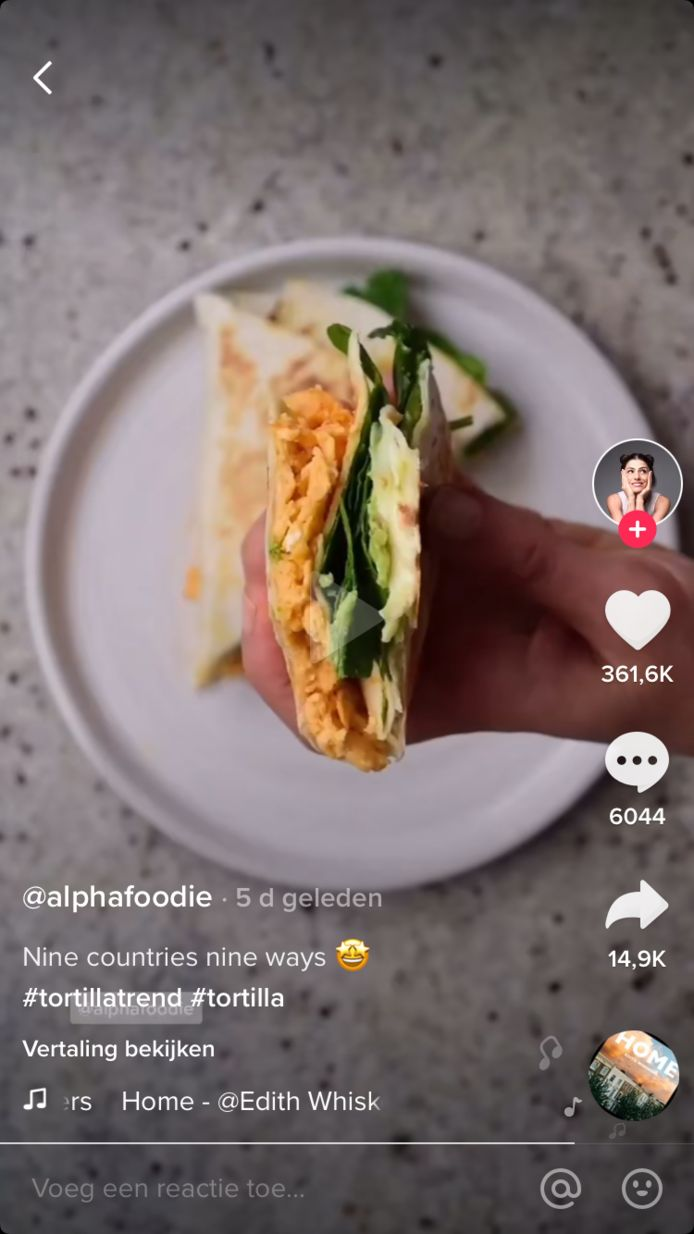 De USA-variant van de tortilla gemaakt door @alphafoodie.