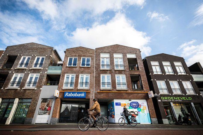 Rabobank Oudenbosch waar in het weekend van 3 en 4 maart de kluisjesroof plaats had.