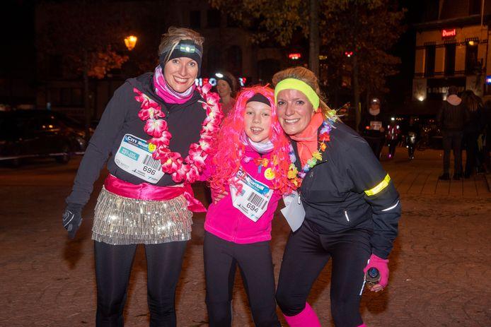 City Night Run door het centrum van Wetteren.