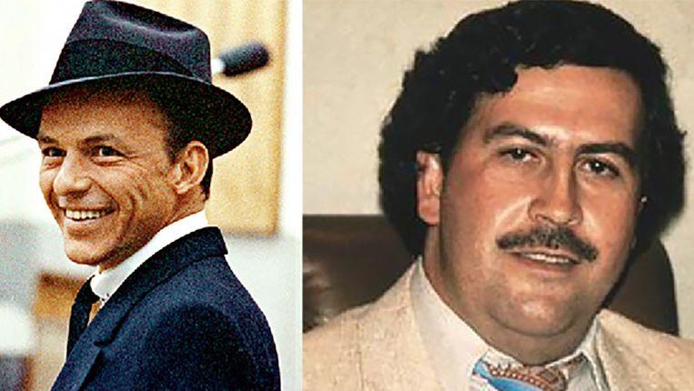 Frank Sinatra en Pablo Escobar Beeld Wikipedia/Reddit