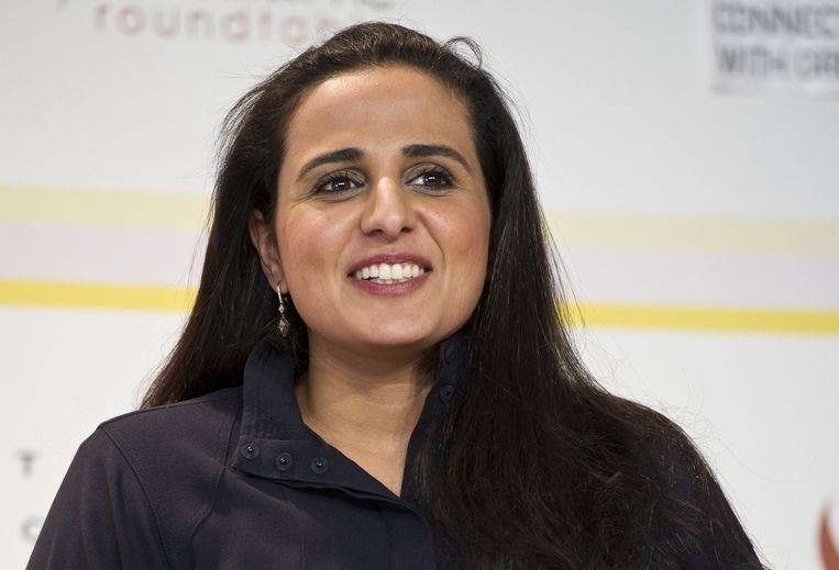 Sjeika Mayassa Al Thani zou een aankoopbudget hebben van zo'n 900 miljoen euro per jaar. Beeld rv