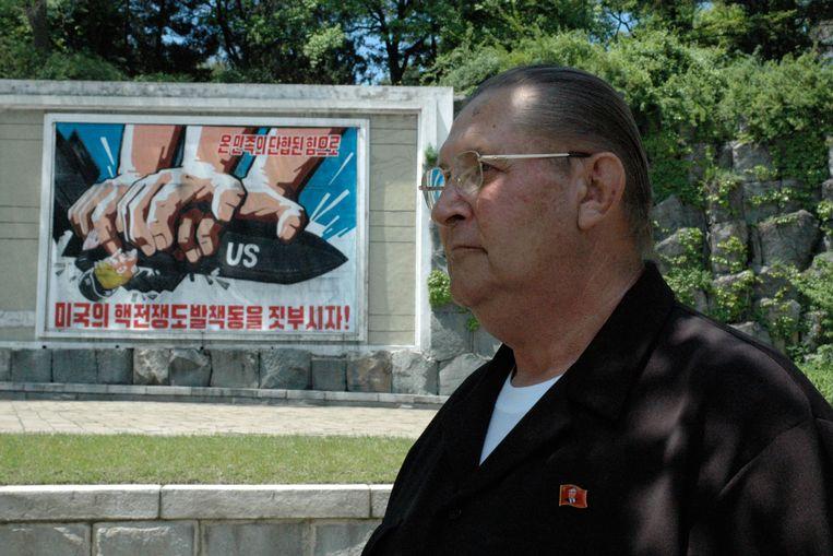 James Dresnok werd na zijn oversteek naar Noord-Korea een bekende ster in propagandafilms van het bewind. Beeld AFP
