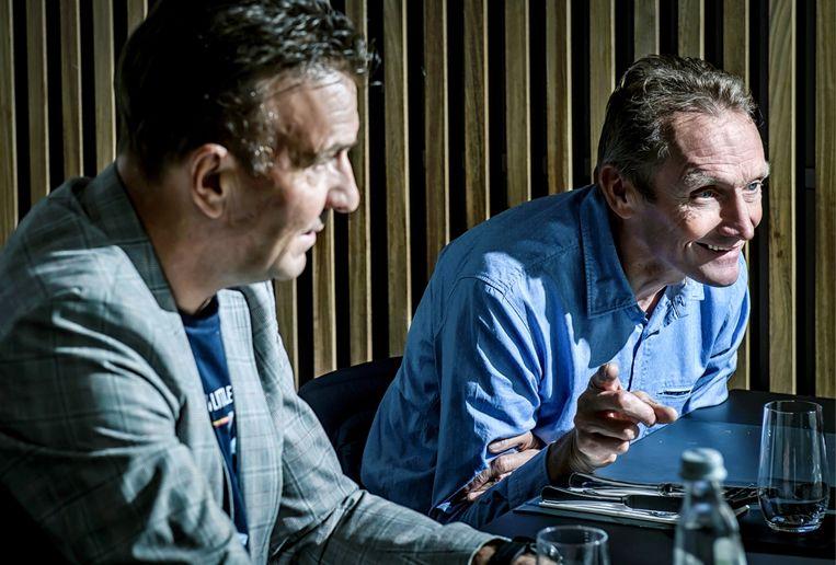 Adrie van der Poel: 'Er zijn maar twee goeie analisten in België. Johan Museeuw en Tom Boonen. Het is respectloos dat Johan door zijn dopingbiecht wordt uitgesloten.' Beeld