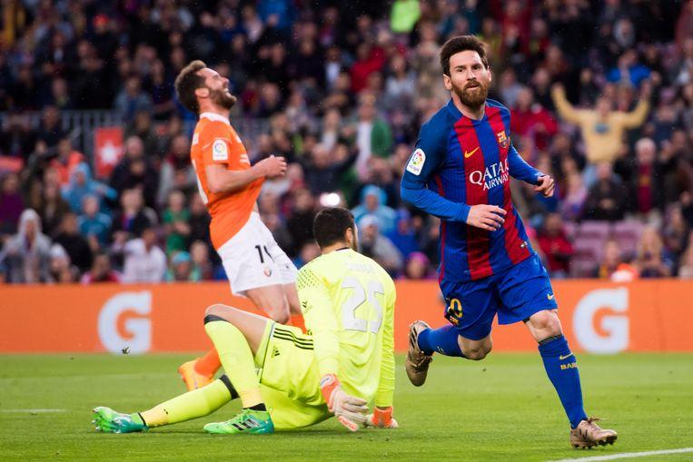 Messi mocht twee keer juichen. Beeld Getty Images