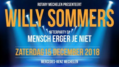 Willy Sommers zingt voor Sjarabang en Spierziekten Vlaanderen