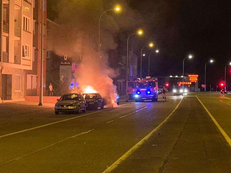 Maasmechelen brand op de Rijksweg.