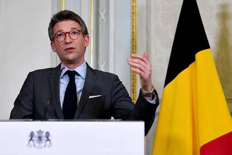 Vicepremier en minister van Economie Pierre-Yves Dermagne (PS). Beeld BELGA