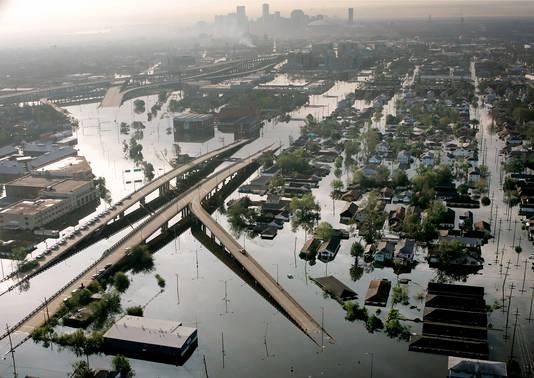 New Orleans na Katrina. Veel wijken zijn nog steeds niet hersteld.