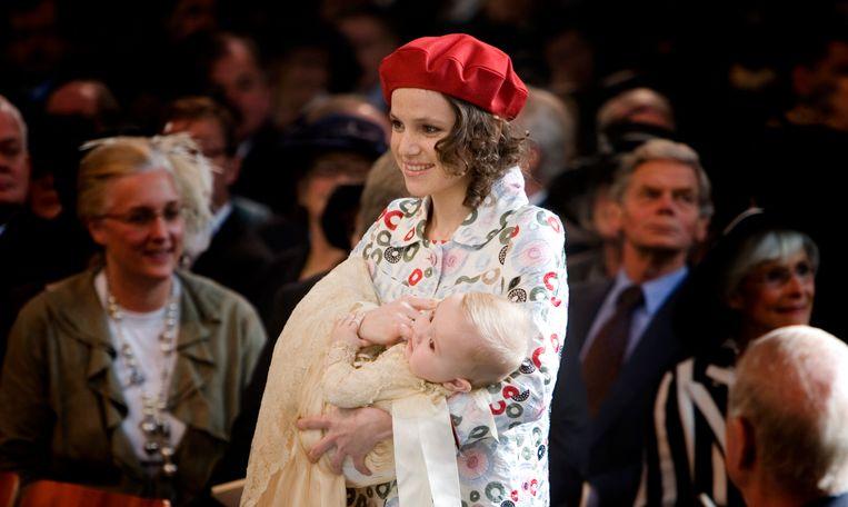 Inés Zorreguieta bij de doop van prinses Ariane. Beeld ANP