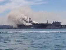 17 gewonden bij grote brand op Amerikaans marineschip in haven van San Diego