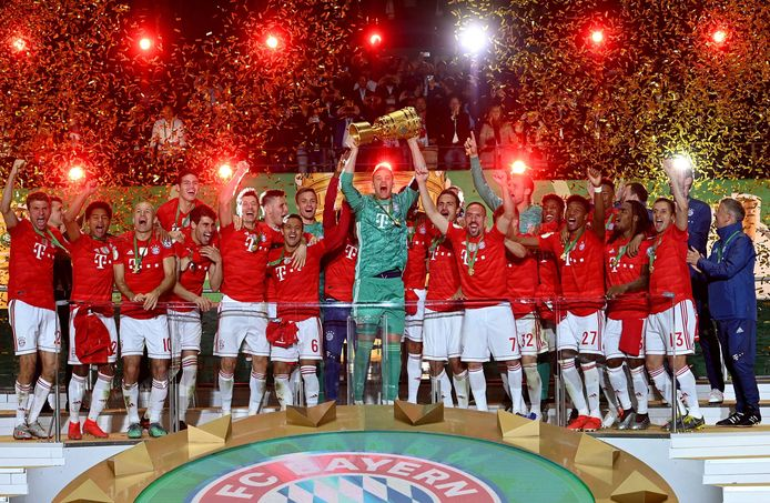 Bayern München viert de zege van de DFB Pokal in 2019.