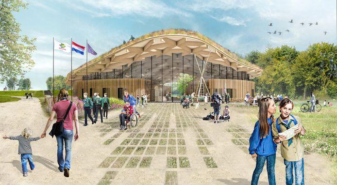 Zo moet het nieuwe Avonturenhuis in Zeewolde er uit gaan zien.