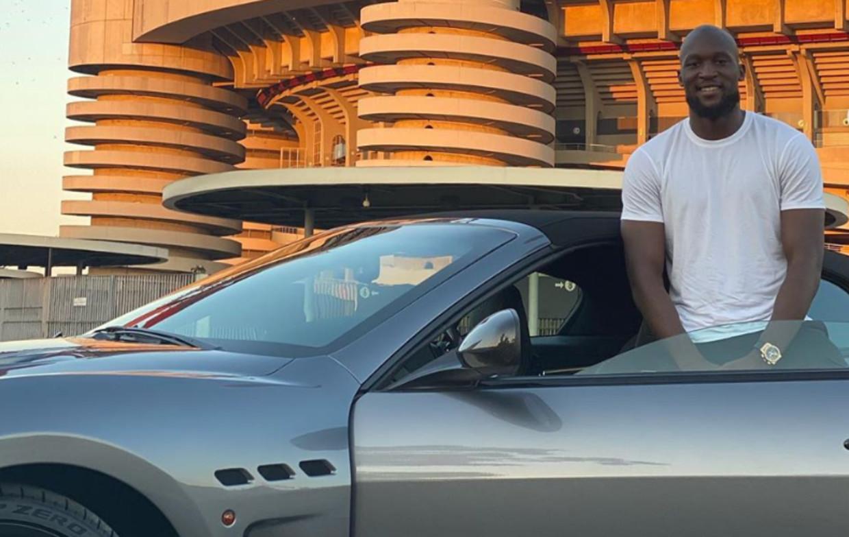 Lukaku en z'n Maserati. Beeld Instagram Maserati