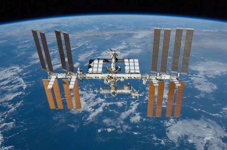 Het ruimtestation ISS. Beeld RV ESA