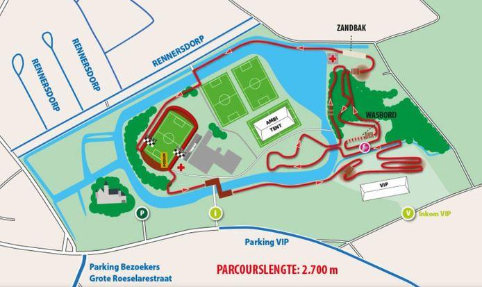 Het parcours van de Berencross 2021.