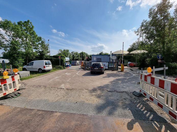 Het recyclagepark in Halle (foto). In oktober opent de stad ook twee keer een pop-uprecyclagepark.