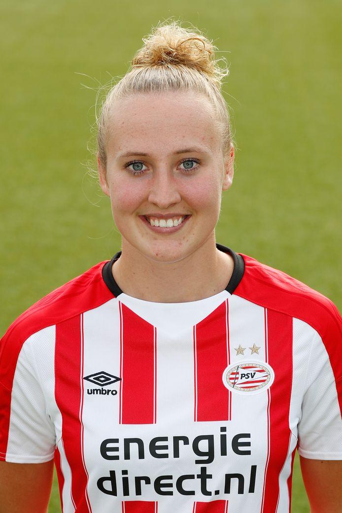 Lucie Akkerman, voetbalster PSV Vrouwen 2017-2018.