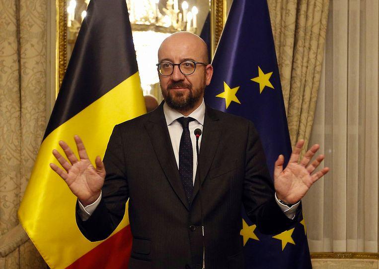 De Belgische premier  Charles Michel.  Beeld BELGA