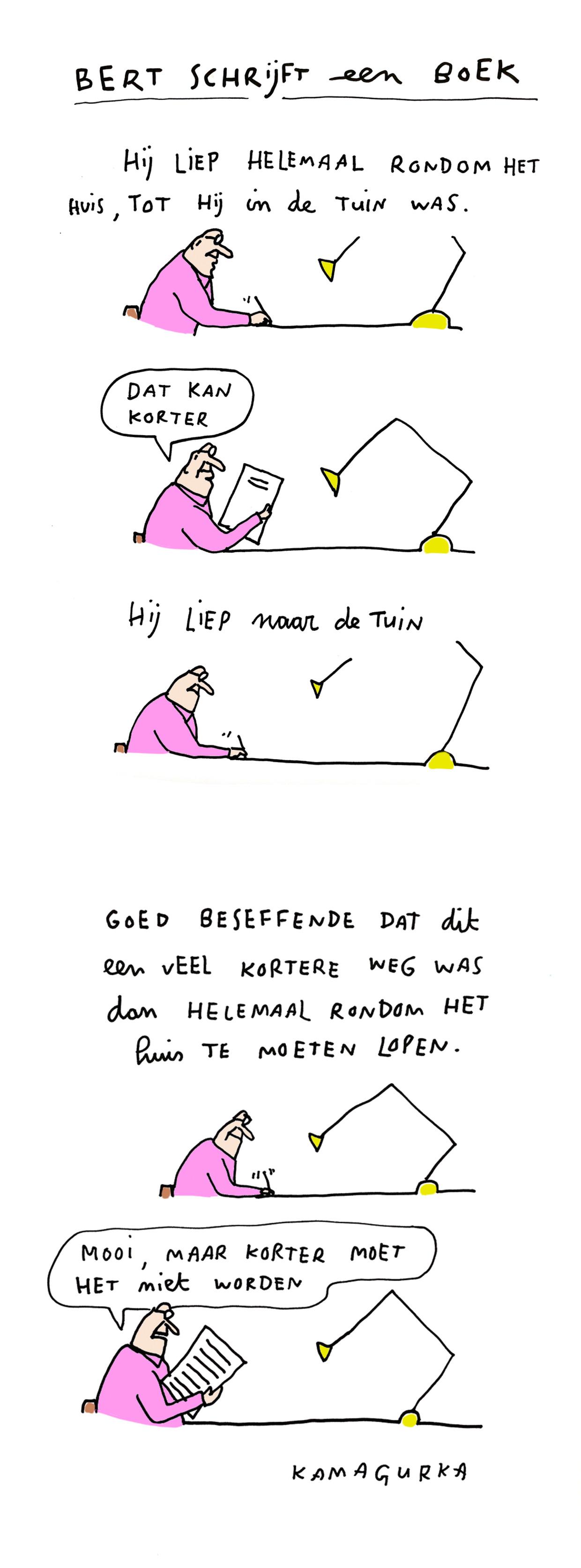 Bert schrijft een boek 23 Beeld Kamagurka