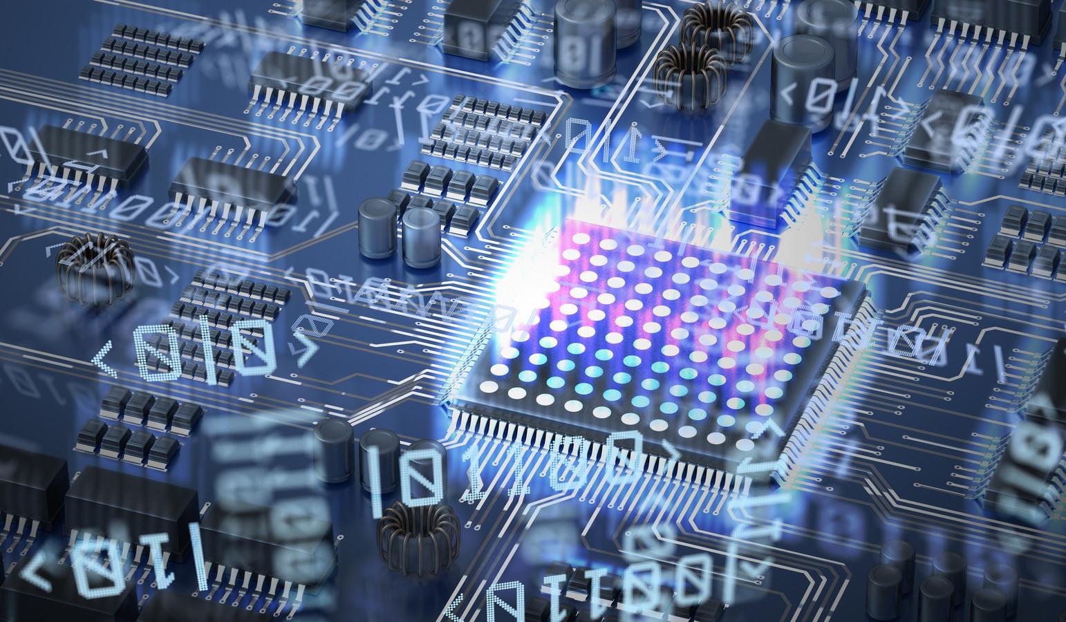 Een quantum computer in ontwikkeling.