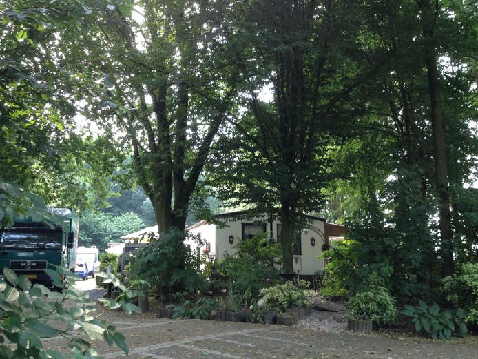 Het woonwagenkampje aan de Verdistraat in Tubbergen.
