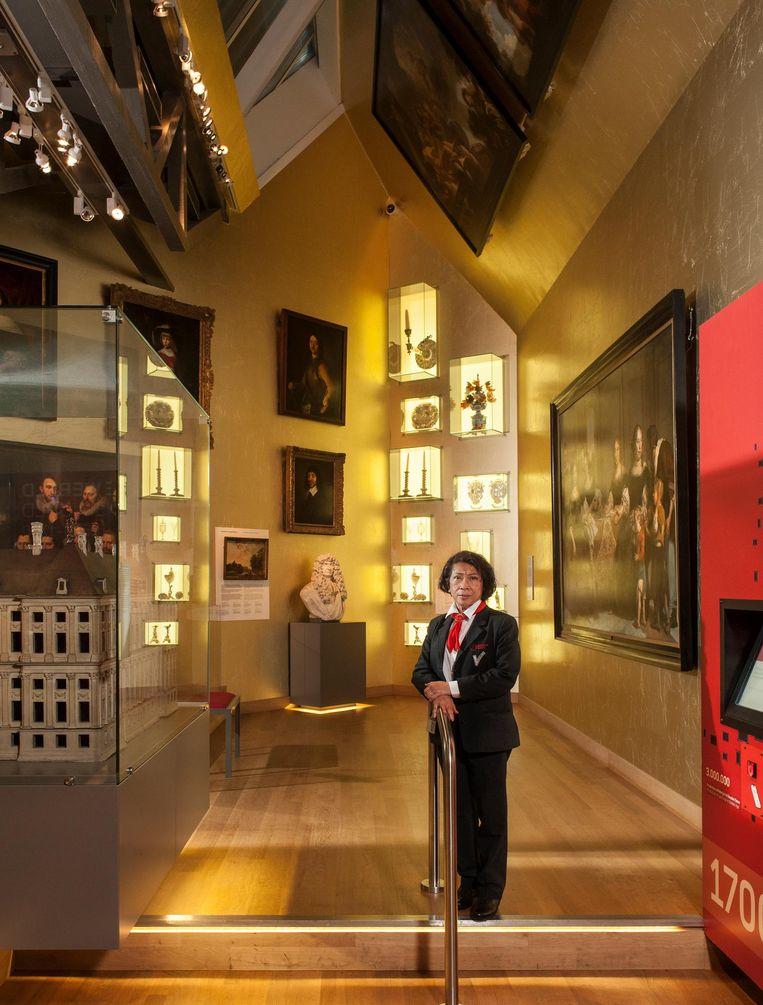 Roos Aalders in het Amsterdam Museum Beeld Friso Keuris