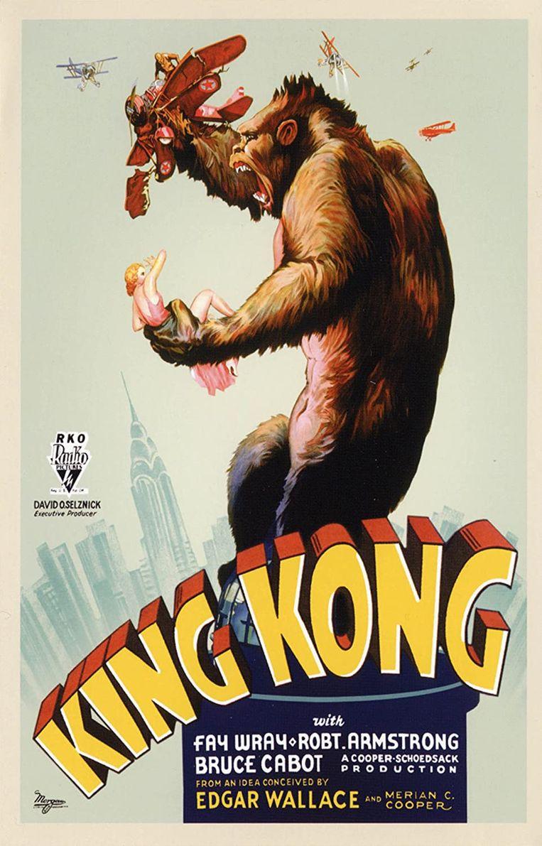 Filmposter van King Kong uit 1933.  Beeld