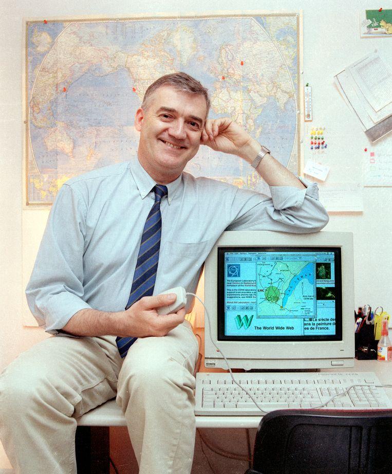 De Belg Robert Cailliau was Tim Berners-Lees eerste partner bij het World Wide Web-project bij CERN.   Beeld 1995 CERN