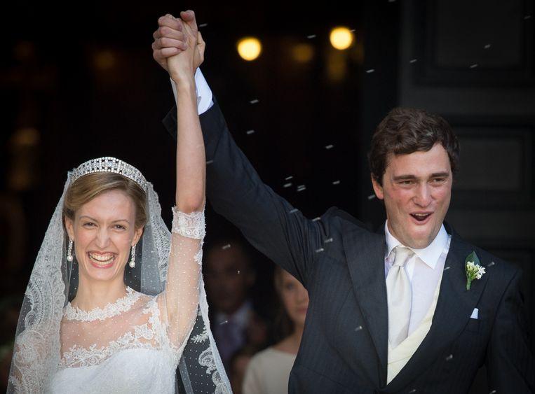 Prins Amedeo huwde vorig jaar in Rome met Lili Rosbosch.