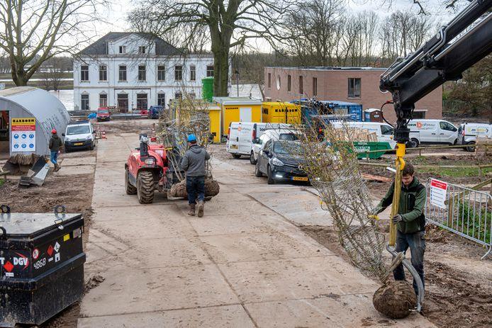 Aanvoer van bomen als nieuwe aanplant voor Landgoed Klingelbeek.