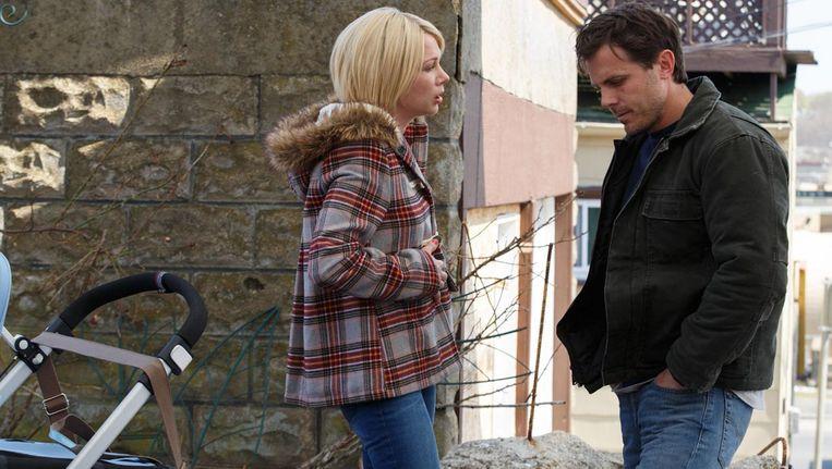 De sleutelscène is een ontmoeting tussen Lee (Casey Affleck) en Randi (Michelle Williams) Beeld Claire Folger