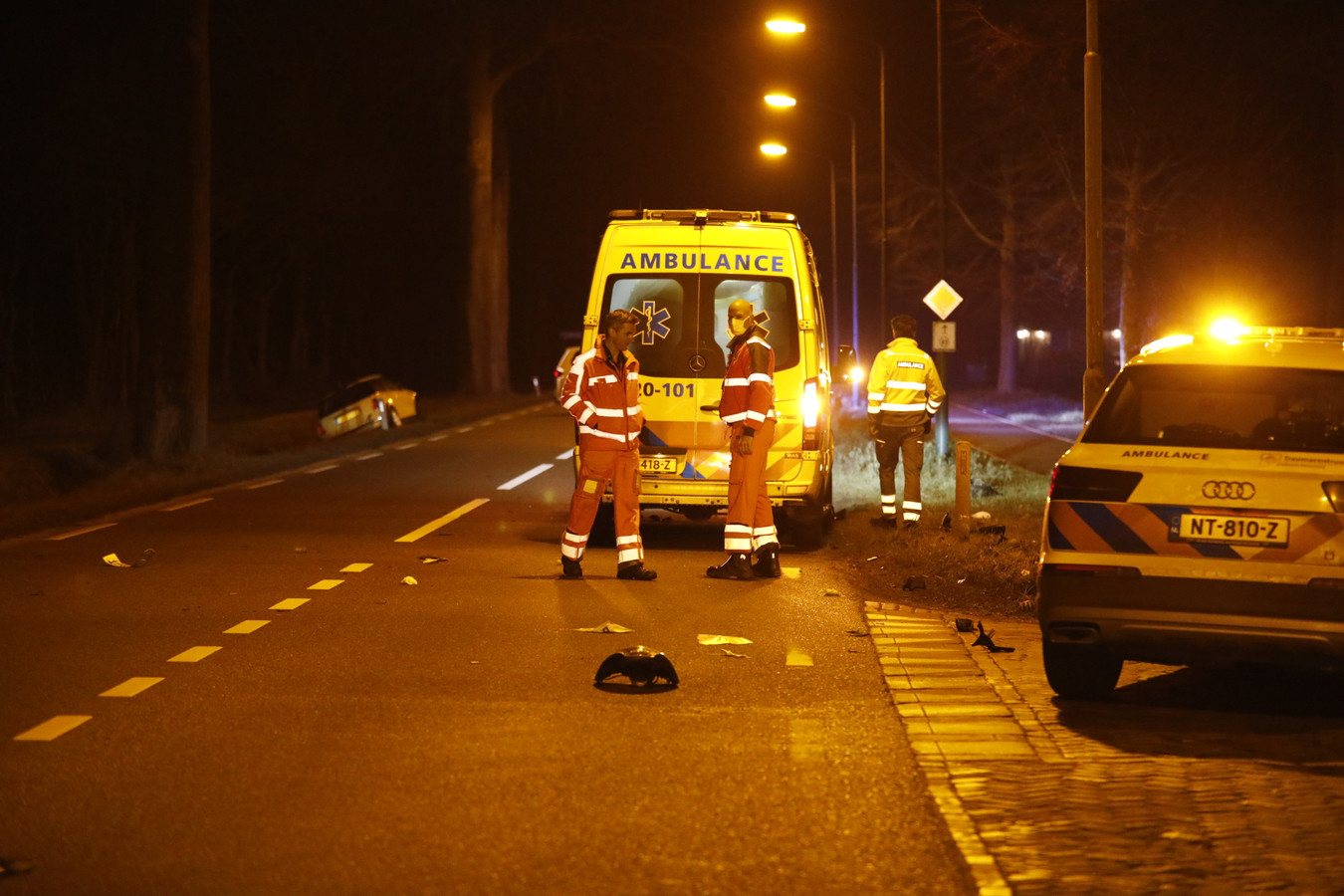 De bestuurder raakte zwaargewond bij het ongeval in Ossendrecht.
