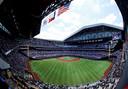 Het stadion van Texas Rangers was stijf uitverkocht voor het duel met Toronto Blue Jays.