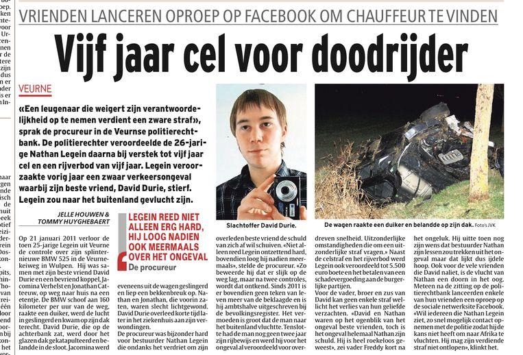 Uit onze krant van 20 maart 2012, na de veroordeling van Nathan Legein.