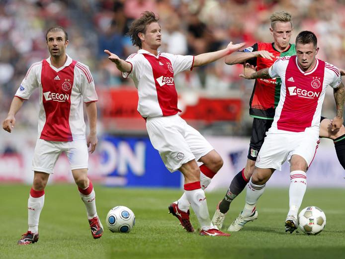 Ajax betaalde miljoenen voor Bakircioglu (l), Wielaert (m) en Janssen (r), maar beleefde er weinig plezier aan