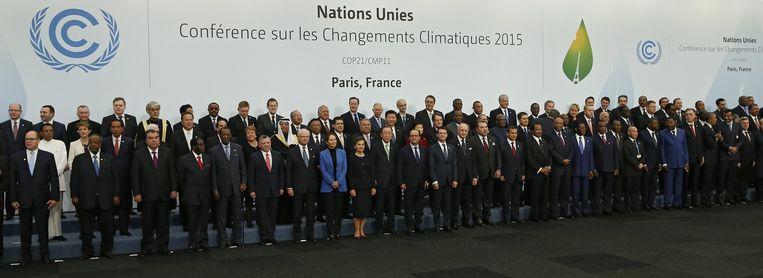 Op de 21ste VN-klimaatconferentie in Parijs zijn vandaag delegaties van ruim 190 landen aanwezig. Beeld anp