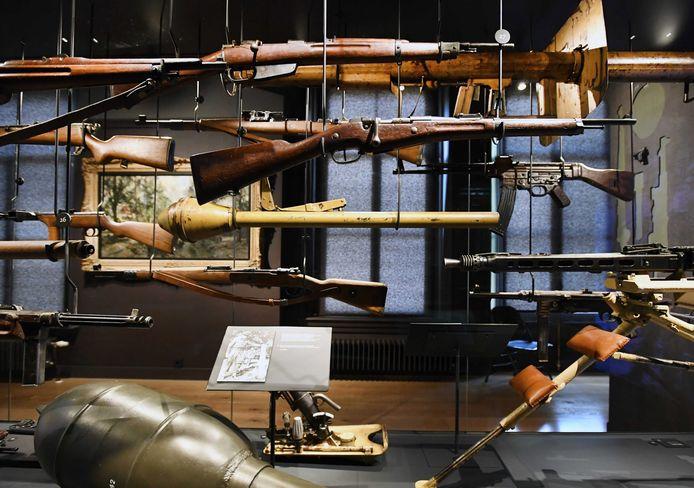 Een kijkje binnen bij het Airborne Museum in Oosterbeek.