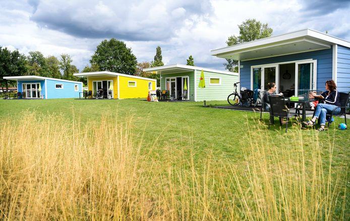 Vakantiehuisjes op het vijfsterren vakantiepark Ackersate in Voorthuizen.