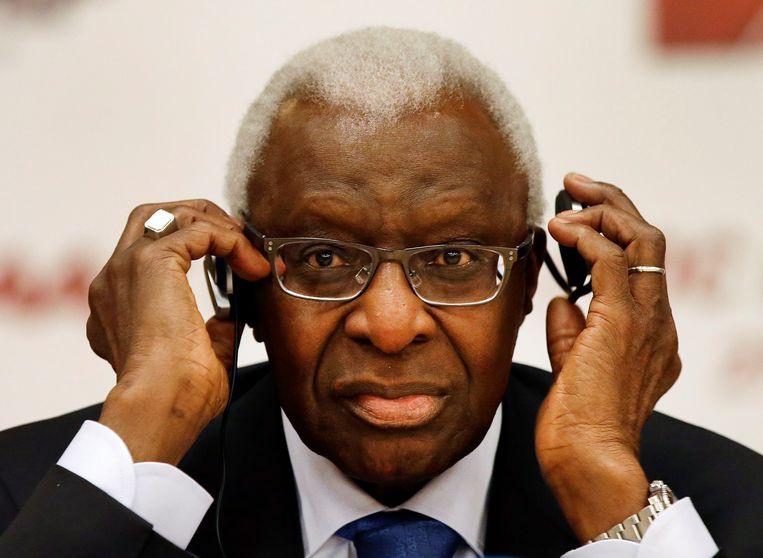 Oud-voorzitter Lamine Diack. Beeld AP