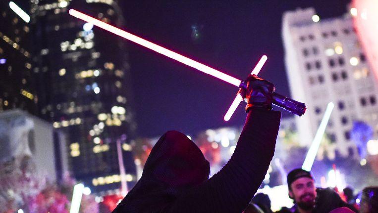 De Star Wars-gekte slaat wereldwijd keihard toe. Beeld AFP