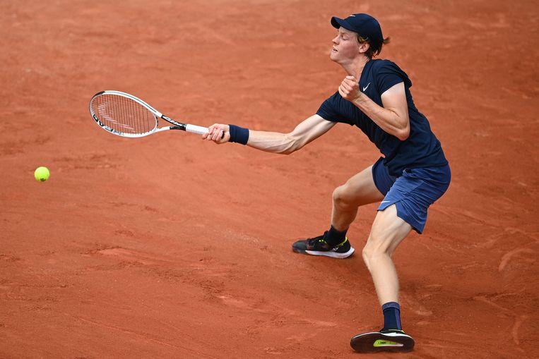 Jannik Sinner op Roland Garros. Beeld AFP