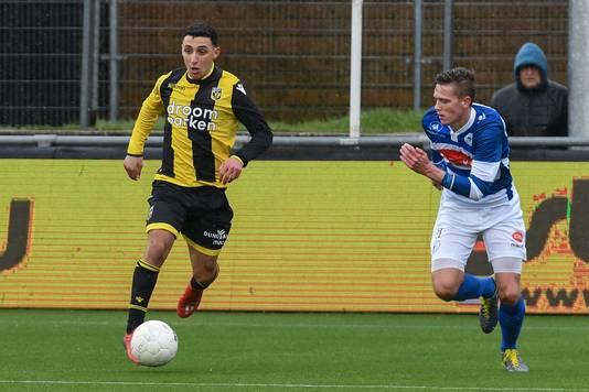 Beeld uit het duel tussen Spakenburg en Jong Vitesse eerder dit seizoen.