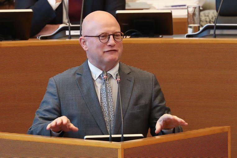 Jean-Luc Crucke (MR), Waals minister voor Begroting en Financiën Beeld BELGA