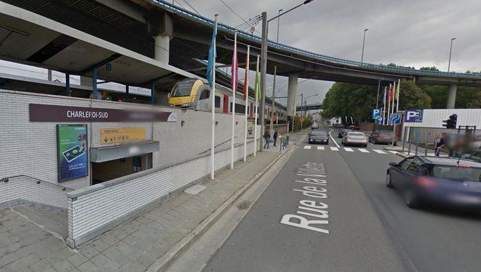 Les faits ont eu lieu à l'arrière de la gare de Charleroi, côté Villette.
