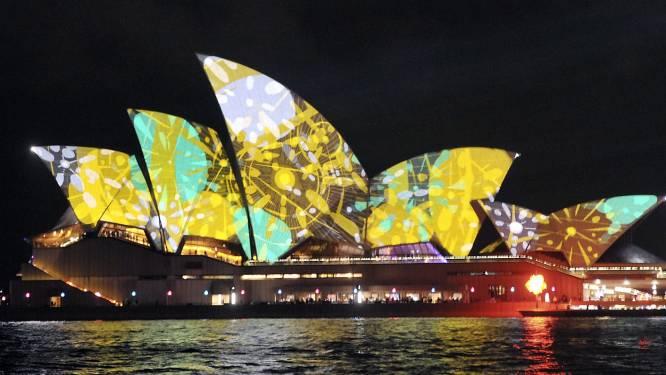 Zo verbluffend ziet de Sydney Opera House eruit tijdens grootste lichtfestival ter wereld