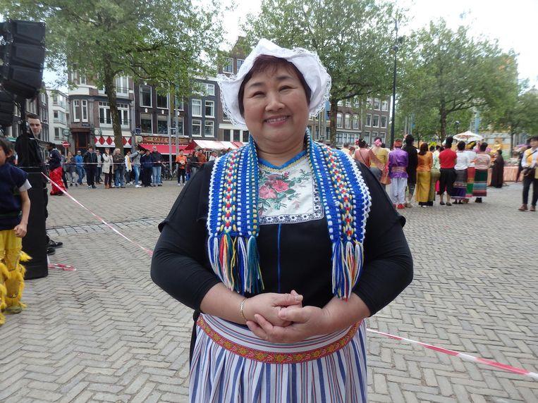 Theresa Man: 'Als we lopen, vertegenwoordigen we alle groepen mensen van de hele wereld, en ik vertegenwoordig vandaag de Nederlanders' Beeld Schuim