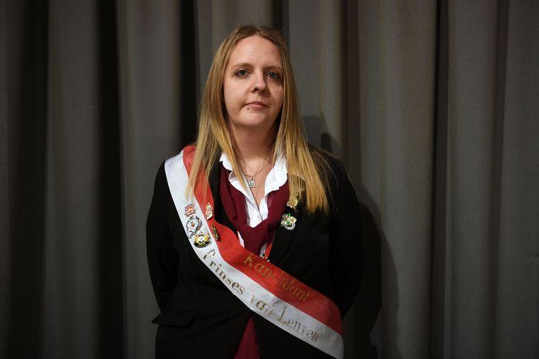 Tina Wittemans tijdens Internationaal prinsenbal, met verkiezing van Prins en Prinses van Vlaams-Brabant en 'Loven'