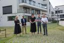 Burgemeester Rita Demaré en eerste Schepen Frederik Sap openden het nieuwe appartementencomplex