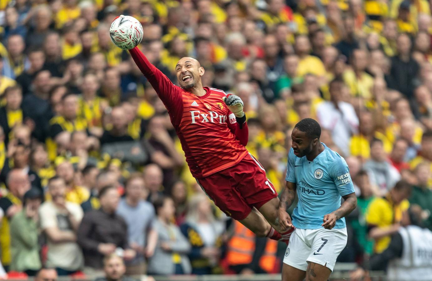 Heurelho Gomes verloor met Watford de FA Cup-finale van Manchester City: 0-6